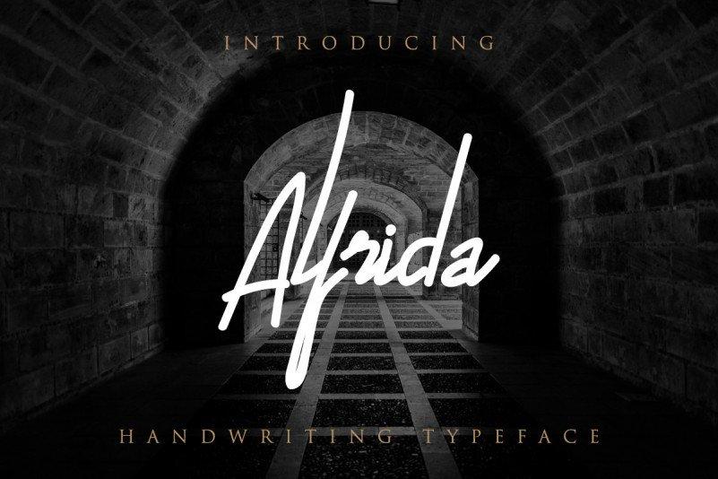 Alfrida Handwritten Font 1