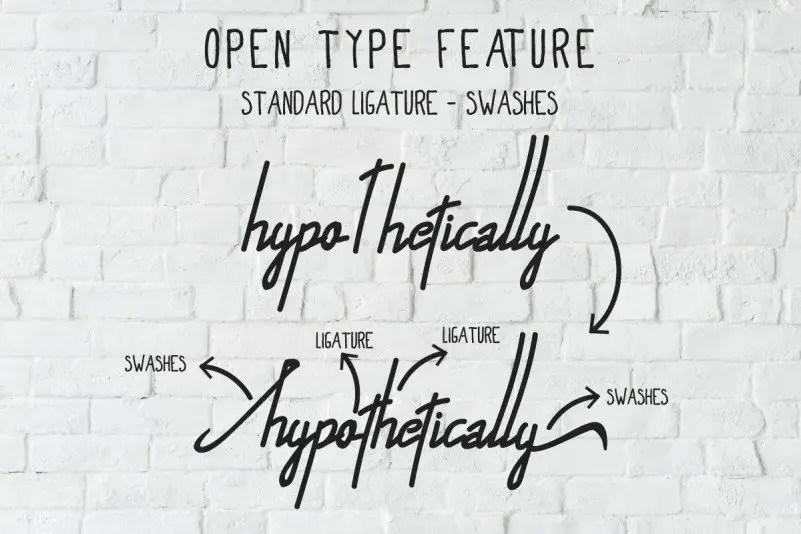 Alfrida Handwritten Font 2