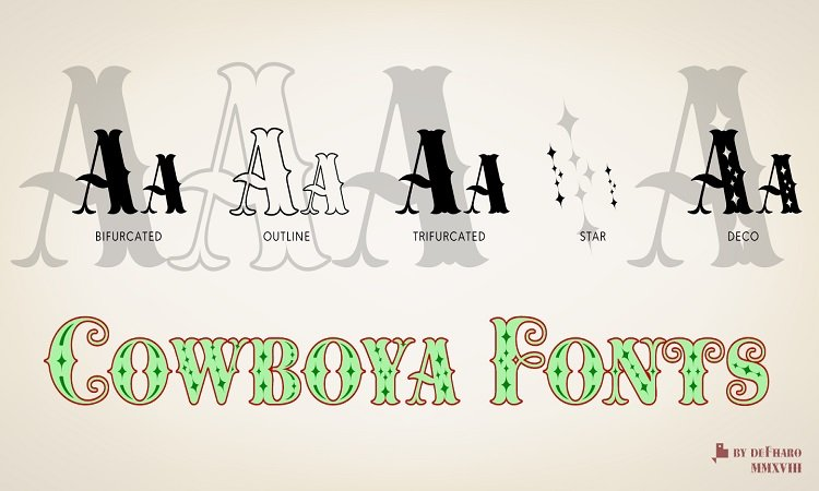 Cowboya-layered-tuscan-serif-fonts
