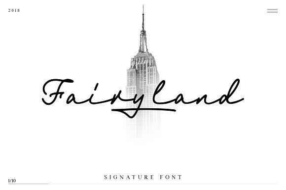 fairyland-signature-font