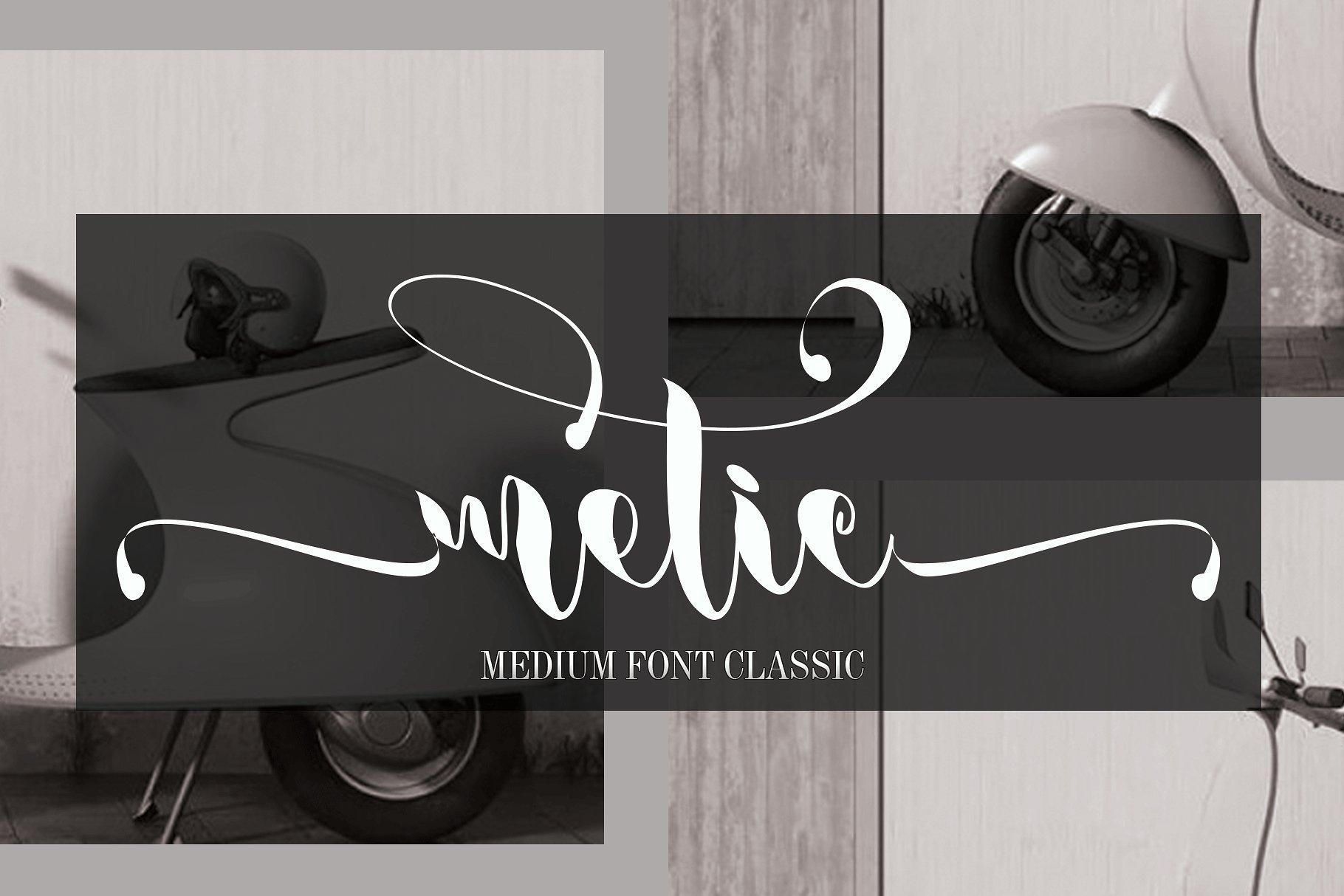 metic-calligraphy-font
