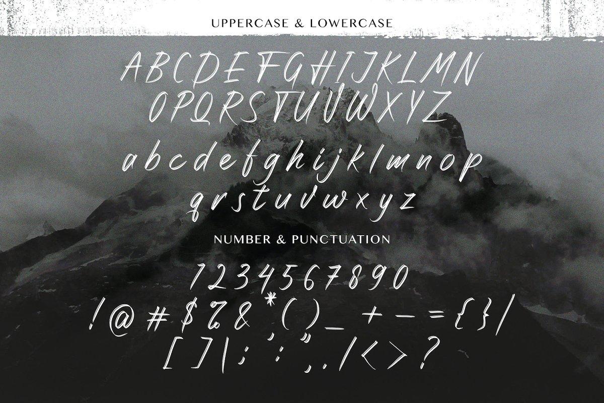 Rattnugidari Brush Font03