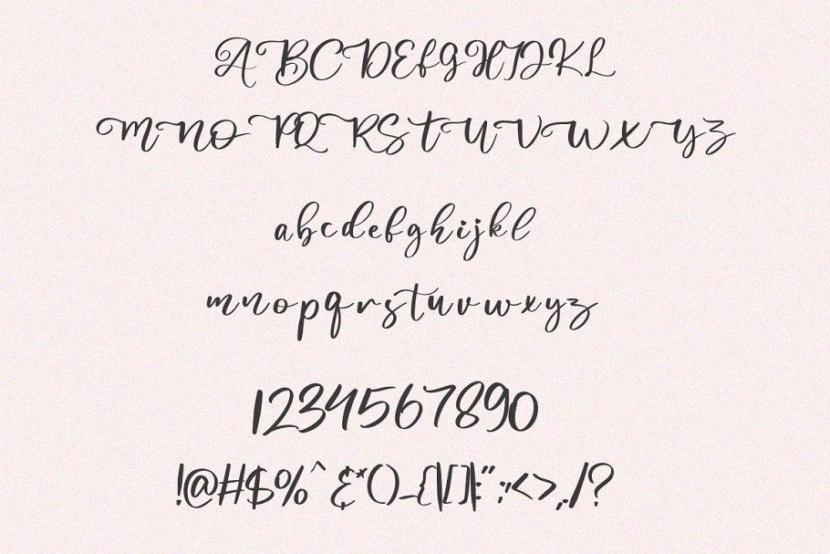 Abiland Modern Calligraphy Font