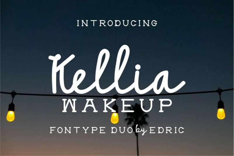 Kellia Wakeup Font Duo