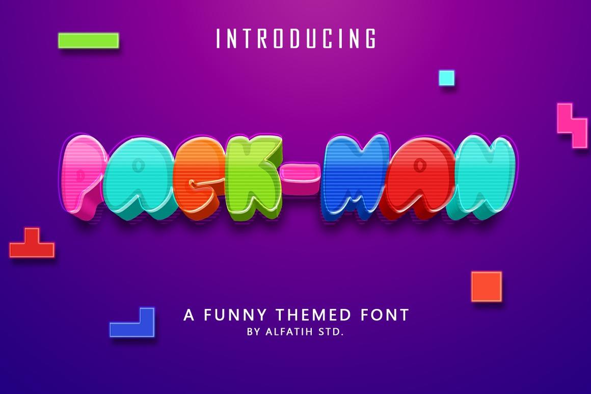Pac Man Font01