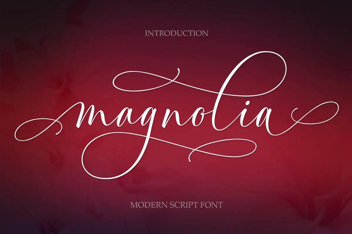 Magnolia Modern Script Font