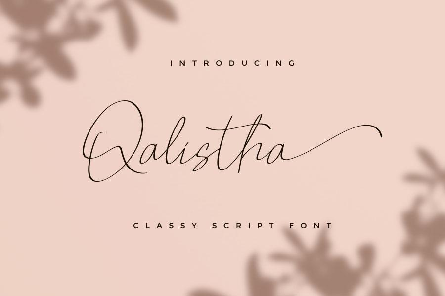 Qalistha Font01