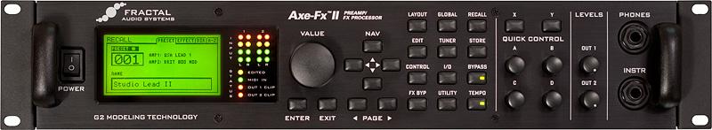axe fx ii front panel