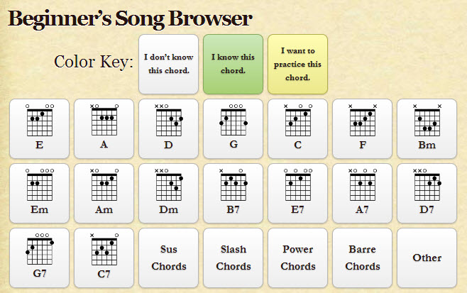 beginners song browser