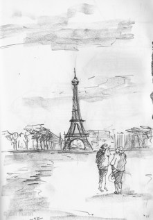 Sketch of the Eiffel Tower
