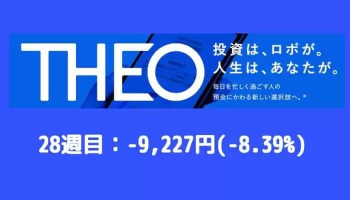 theo_result - THEO(テオ)28週目の運用実績は-9,227円(-8.39%)