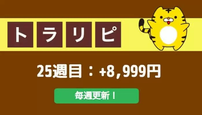 traprepertresult - 【トラリピ】25週目:運用実績は+8,999円でした!自動売買FXで不労所得