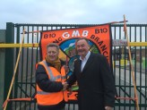 Keith Williams GMB & Jon Cruddas on the picket line