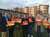 Canvassing team in Heath Ward