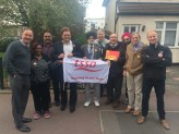 Manuel Cortes TSSA GS visits to campaign with Jon Cruddas GE2015