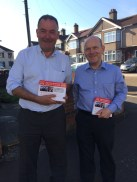 Jon Cruddas & John Biggs out leafleting in Eastbrook