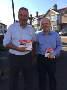 Jon Cruddas & John Biggs out leafleting in Eastbrook