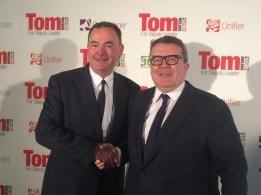 Tom Watson launches his Deputy Leadership campaign with Jon Cruddas in Dagenham Trades Hall 2015