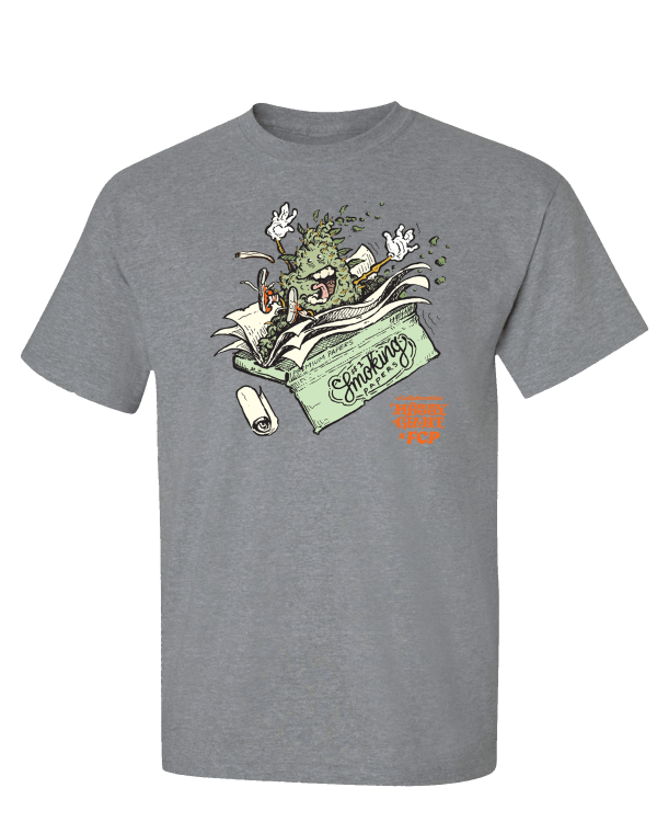 mossy giant bud rolling paper t-shirt weed