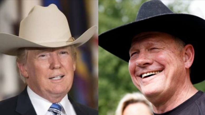 Image source: Kevin Dietsch/UPI & Dagger News: Trump and Roy Moore