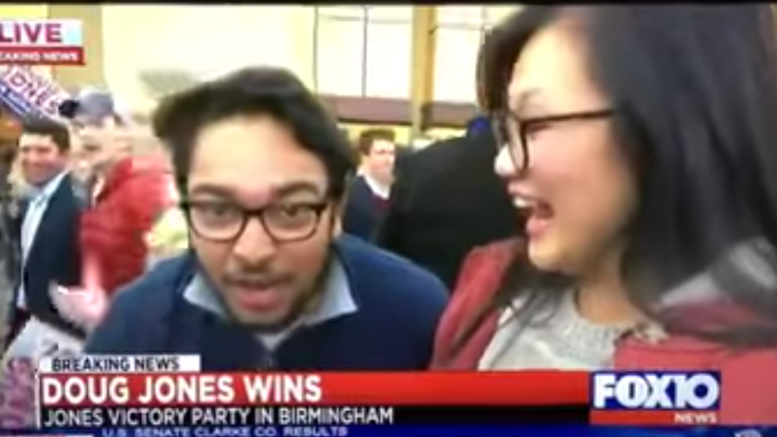 (Feature photo credit to screen capture of Fox 10 video by Dagger News. Alabama special election, voter fraud.)