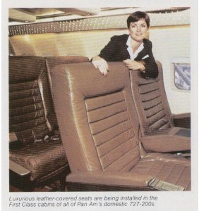 Jessica Leeds on a Braniff flight and the armrest is not movable then as she states in her