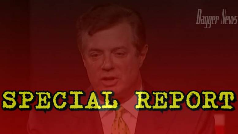 Feature photo credit to screen capture and Dagger News compilation. Manafort SUES Mueller and Rosenstein.