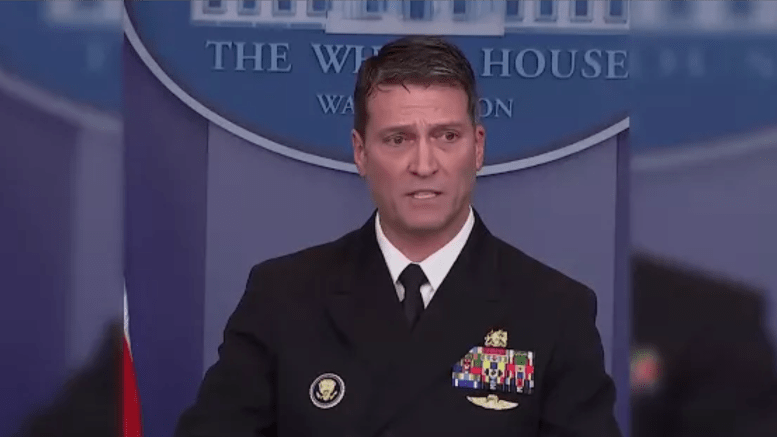 Rear Adm Dr. Ronny Jackson, Physician to the President gives statistics on physical and mental tests from January 12, 2018. Feature photo credit to screen capture by Dagger News.