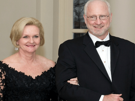 McCaskill and husband Joseph Shepherd caught with their hands in the taxpayer's cookie jar! Photo courtesy of Brietbart 2012.