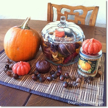 thrifty DIY fall centerpiece