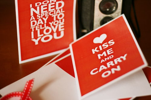 Valentine's Day card free printables 2