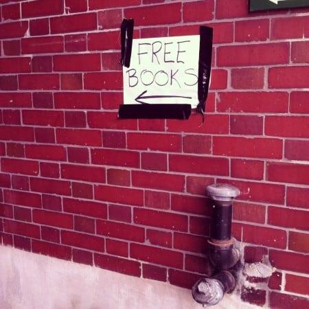 """Free Books"" sign"