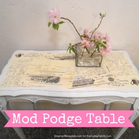 DIY mod podge table