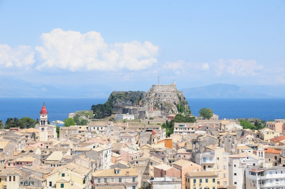 Corfu-Town-view 2 plus 2 Greek destinations for year round holidays