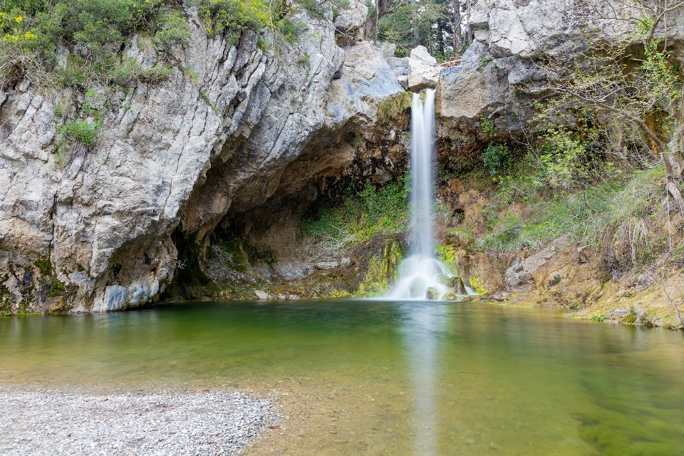 Evia-waterfalls-Drimonas 2 plus 2 Greek destinations for year round holidays