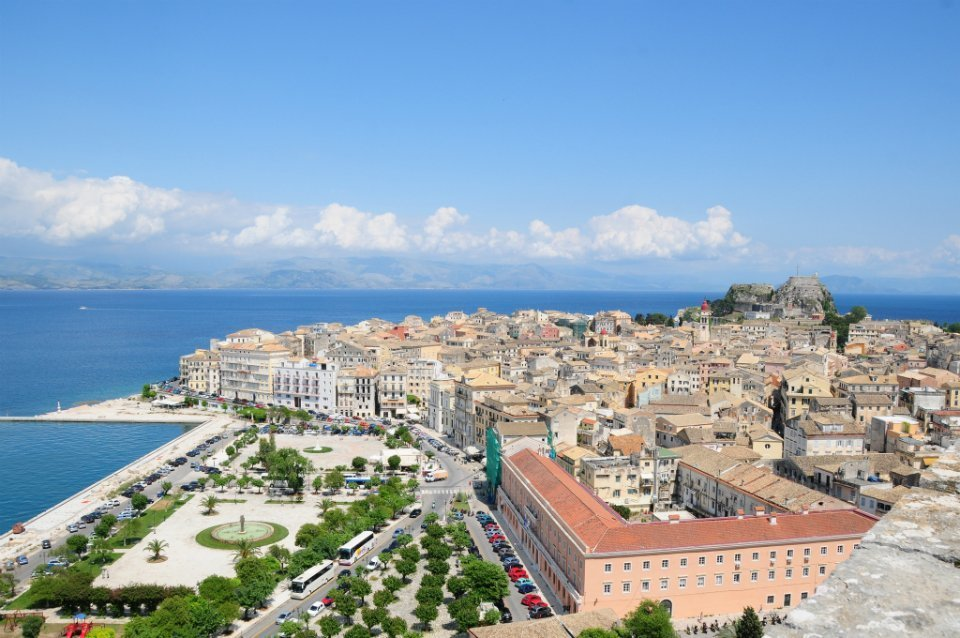 View-of-Corfu-Town-panoramic 2 plus 2 Greek destinations for year round holidays