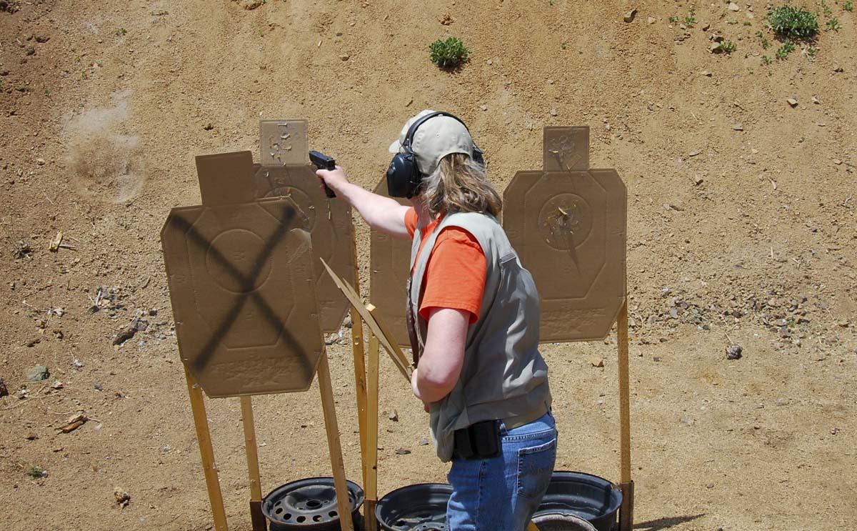 Dagny Shooting at IDPA Match