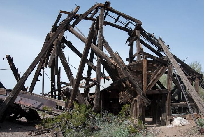 Vulture Mine Structure at Mine Shaft Entrance