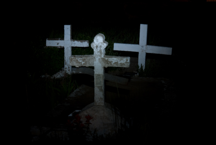 Crosses painted with light