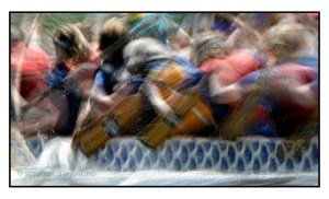 photo Impressionistic image of a dragon boat