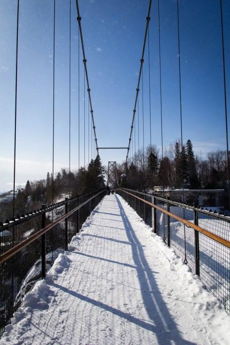 Pont au dessus de la chute de Montmorency.