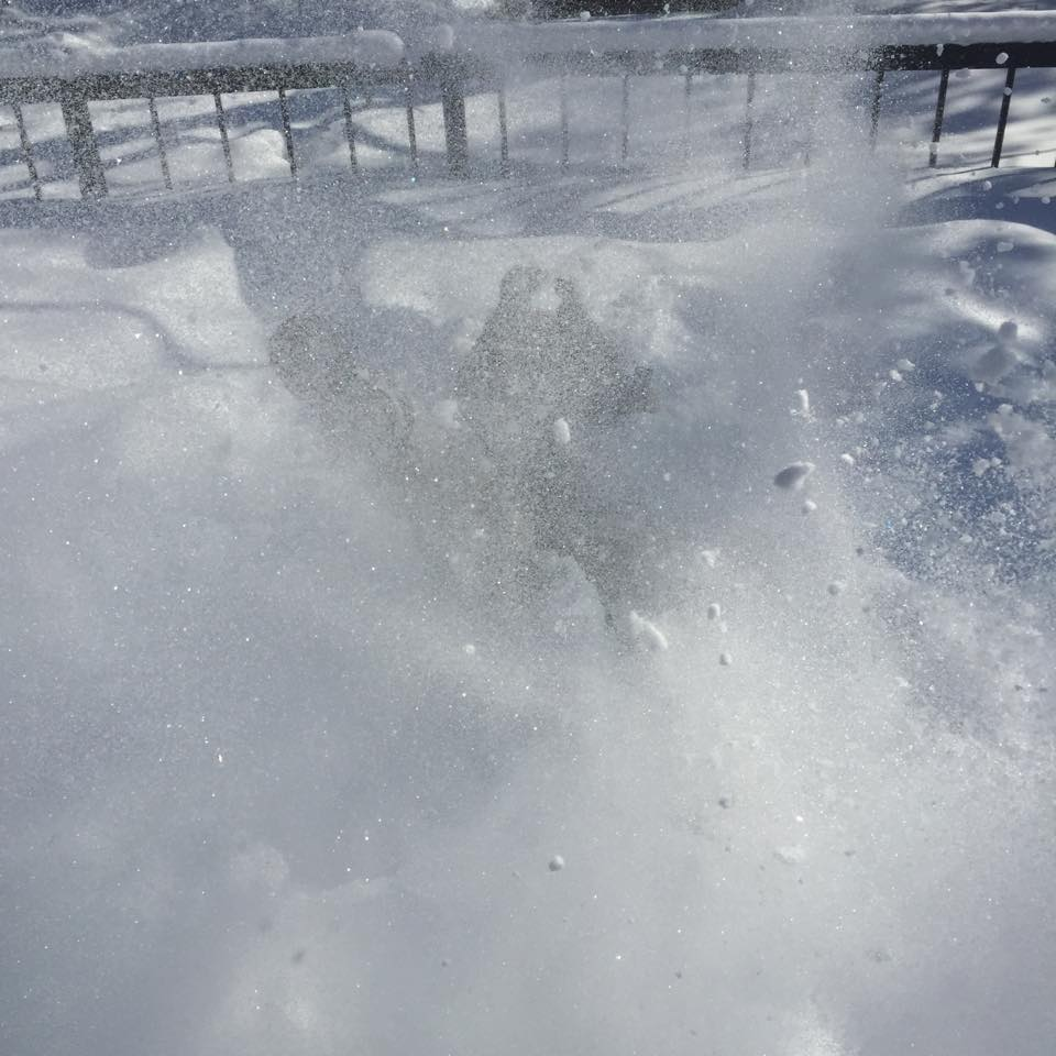 Se faire ensevelir sous la neige !