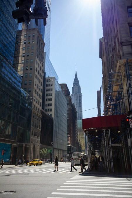 Rue de NYC, Empire State Building en fond.