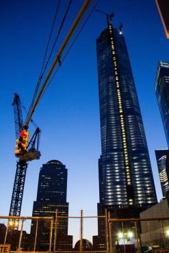 WTC 1, à l'heure bleue.