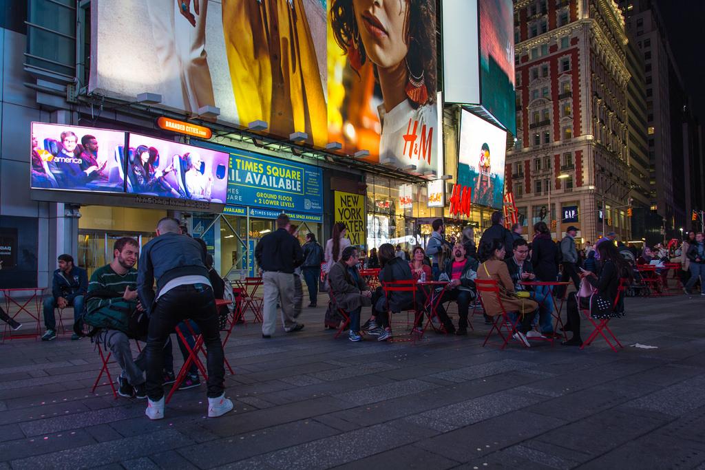 Time Square de nuit.