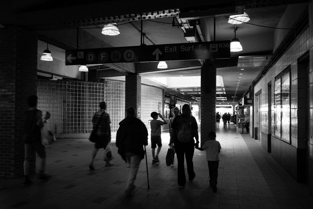 Gare du métro, Coney Island.
