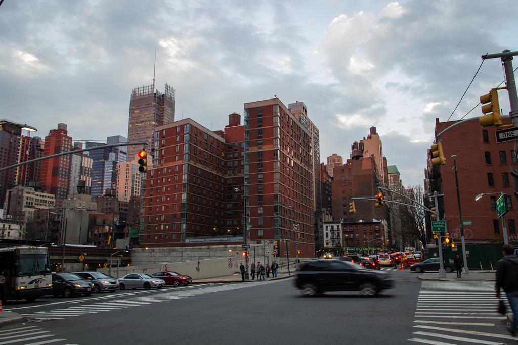 Buildings en brique ocre new-yorkais.