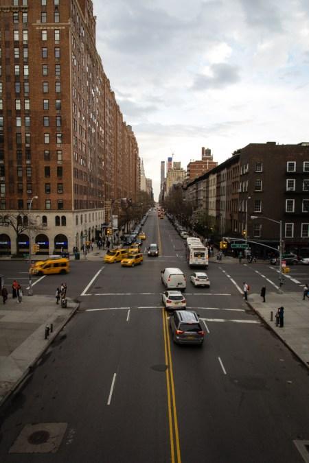 Rue de NYC, vue de la High Line.