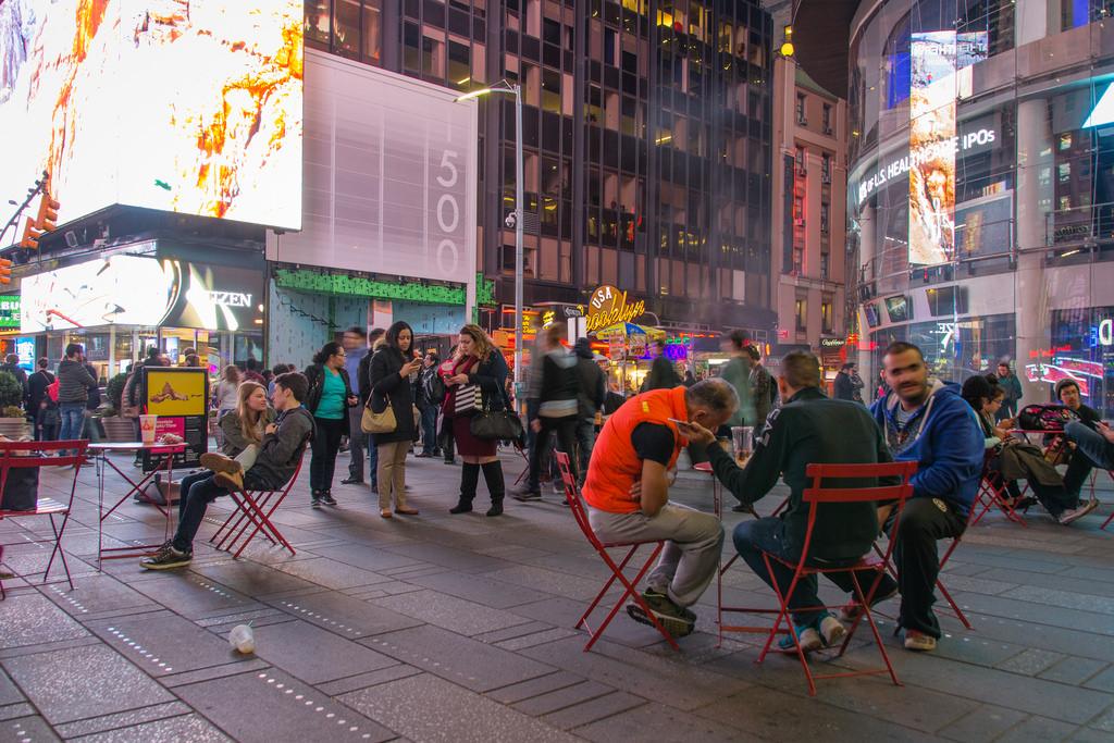 Time Square vue de nuit.