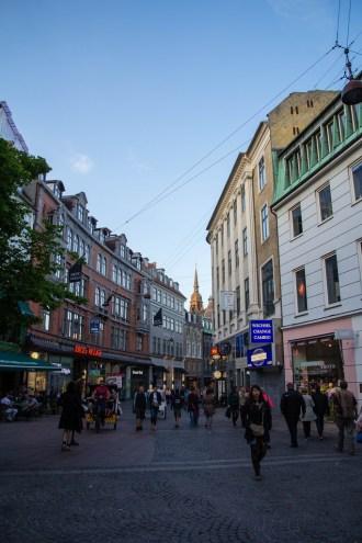 Rues piétonnes de Copenhague.